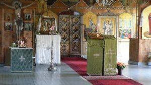 Sisäkuva Valamon luostarista.