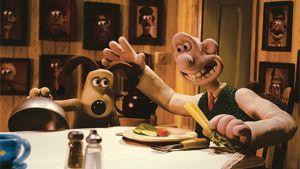 Wallace ja Gromit -hahmot elokuvassa Wallace & Gromit: Kanin kirous.