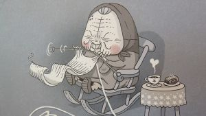 Anni Nykäsen piirtämä Mummo-sarjakuva on nyt ilmestynyt albumina.