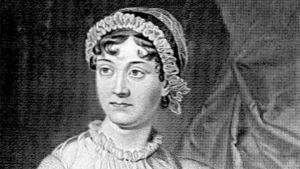 Yksityiskohta Evert A Duyckinickin vuonna 1873 tekemästä Jane Austen -muotokuvasta.