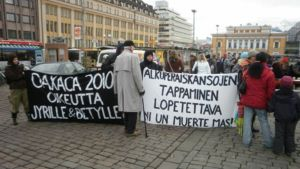 Marchers in Turku honoured the slain activists in 2010.