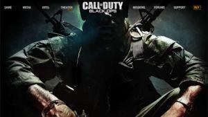 Kuva Call of Duty: Black Ops -pelin netisivustosta.