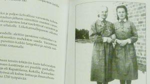 Etelä-Saimaan lotat -kirjan kuvitusta.