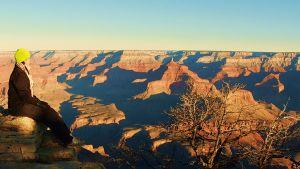 Grand Canyonin reunalla kelpasi hetken hengähtää...