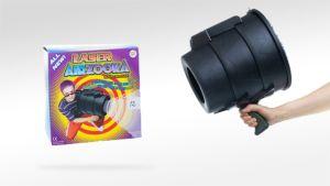 Kuvassa on Laser Airzookan paketti sekä itse ase.