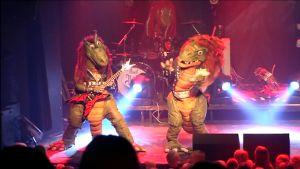 Hevisaurus-yhtye keikalla.