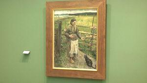 Akka ja kissa -maalaus.