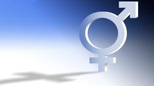 Nais- ja miessymbolit sulautuneen yhdeksi merkiksi.