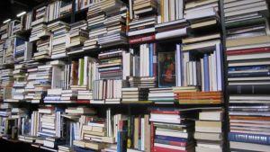 Kirjoja hyllyssä