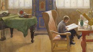 Carl Larsson (1853-1919)  Lukunurkkaus. Esbjörn