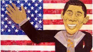 Juhana Herttuan lukiolaisten naivistinen Obama-juliste miellytti raatia.
