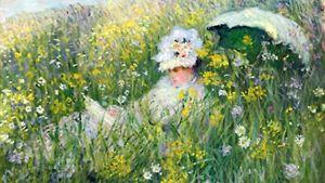 Claude Monet'n maalaus Dans la Prairie.