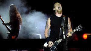 Metallican James Hetfield lavalla Beliinissä 12. syyskuuta 2008
