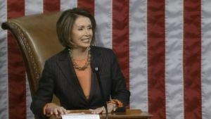 Yhdysvaltain edustajainhuoneen puhemies Nancy Pelosi kertoo äänestyksen tuloksen.