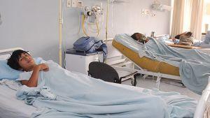 Potilaita sairaalassa