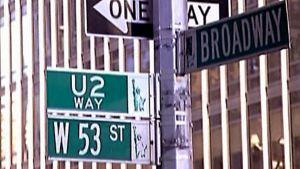 U2 Way:n katukyltti New Yorkissa.