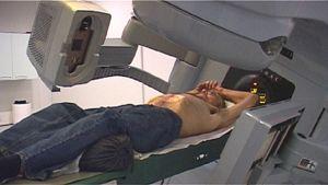 Sädehoitoa annetaan TAYSin Radius-syöpäsairaalassa.