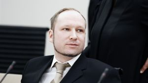 Anders Behring Breivik oikeudessa Oslossa.