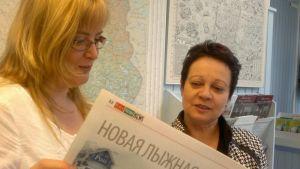 Tanja Pohjola myyntipäällikkö Nordic Holidays ja Tuija Rytkönen Ruka-Kuusamo Matkailuyhdistys toiminnanjohtaja.