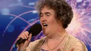 Susan Boyle Talent-kisan esityksessä.