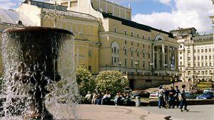 Bolshoi-teatterin rakennus Moskovassa