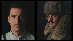 Mikko Nousiainen 20-vuotiaana Mannerheimina vasemmalla ja 55-vuotiaana Mannerheimina oikealla.