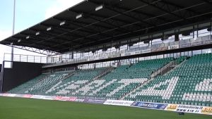 Veritas stadionin nimi täytyy peittää UEFA:n vaatimuksesta.
