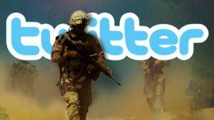 Yhdysvaltain merijalkaväen sotilaita, Twitter-logo.