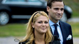 Ruotsin prinsessa Madeleine ja tämän kihlattu Jonas Bergström Kesäkuussa 2009.