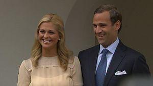 Ruotsin prinsessa Madeleine ja tämän kihlattu Jonas Bergström