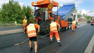 asfalttityömaa
