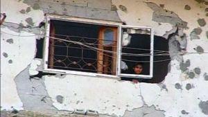 Pommitettu talo Gazassa.