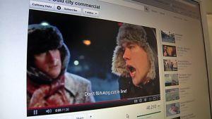 Epävirallinen Oulun markkinointivideo kerää katsojoa Youtubessa.