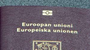 Lähikuva passin kannesta