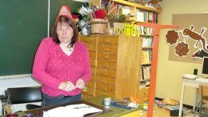 Karesuvannon koulun opettaja Anna-Reetta Niemelä