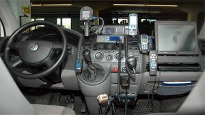 Poliisin auton kojelauta