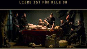 Rammsteinin Liebe Ist Für Alle Da -levyn kansi.