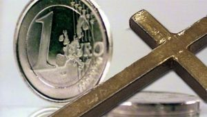 Euron kolikko ja risti