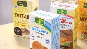 Gluteenittomia tuotteita