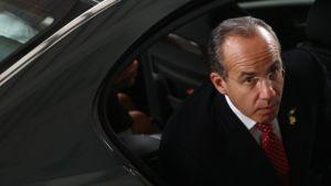 Meksikon presidentti Felipe Calderón.