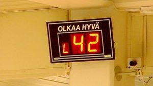 Jonotusnumero terveyskeskuksessa