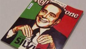 Italian pääministeri Berlusconi Rolling stone-lehden kannnessa.