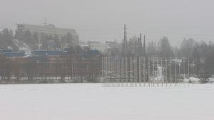 Kuopion yliopiston kampus talvella.