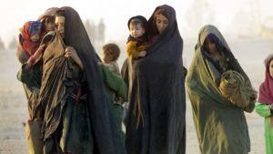 Afganistalaisia pakolaisia.