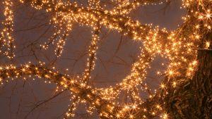 Ledeillä toteutetut jouluvalot Kouvolankadulla Kouvolassa
