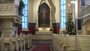 Joensuun evankelisluterilainen kirkko jouluna
