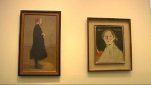 Helene Schjerfbeckin tauluja.