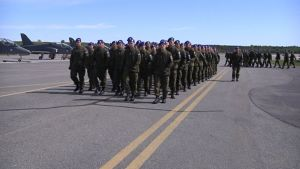Sotilaita Kauhavan lentosotakoululla