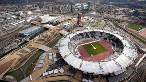 Ilmakuva Lontoon olympiastadionista.
