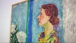 Sara Hildenin muotokuva Erik Enrothin maalaamana.